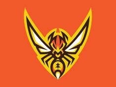 Wasp Logo designed by AkumaOne. Connect with them on Dribbble; Hive Logo, Logo Esport, Brand Identity Design, Branding Design, Corporate Branding, Logo Branding, Esports Logo, Learning Logo, Desenho Tattoo