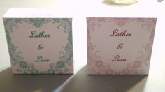 """Colored """"Lather & Lace"""" boxes. Yes!"""