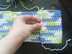 Free Crochet Swiffer Cover Pattern | Row 1: Hdc in second chain from hook. Hdc in each remaining stitch. Ch ...