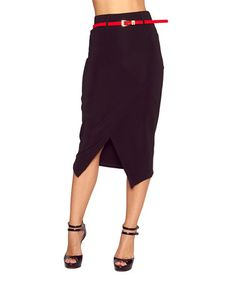 Look what I found on #zulily! Black Pencil Skirt by Quest #zulilyfinds