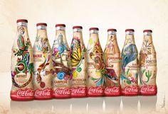 Design and illustration for Coca-Cola contour bottle by cesar nandez, via Behance