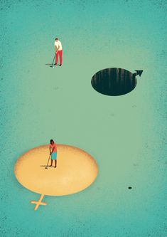 Gender inequality in workplace | Korn Ferry Institute | Davide Bonazzi | Editorial Illustrations 2016 - Vol. 1 on Behance