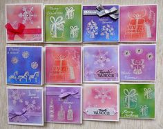 Heat embossing and distress inks ... christmas cards for charity