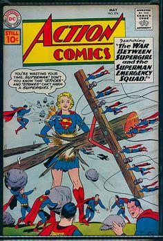 Dc Comic Books, Vintage Comic Books, Comic Book Covers, Vintage Comics, Comic Art, Superman Action Comics, War Comics, Pulp Fiction Comics, Supergirl Comic