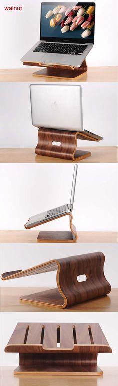 Wooden Cooling Stand Dock Desk Holder for Laptop Notebook Macbook Cooling Stand