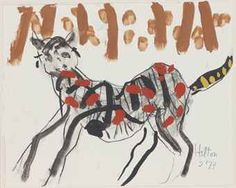 Horse by Roger Hilton Peter Wood, Patrick Heron, Found Art, Love Painting, Figurative Art, Moose Art, Abstract Art, Drawings, Modern
