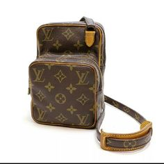 """Louis Vuitton Amazon crossbody BrandLouis Vuitton StyleMessenger & Cross Body ColorBrown MaterialCanvas Country of ManufactureFrance Size (Inch)W 4.7"""" H 7.1"""" D 3.1"""" ItemNameAmazon ItemLineMonogram Other MaterialX Tanned Lether Size (Centimeter)W 12cm H 18cm D 8cmShoulder44.1""""(112 cm) - 51.2""""(130 cm) Product NoM45238 Serial NoTH1910 TV 700 Louis Vuitton Bags Crossbody Bags"""