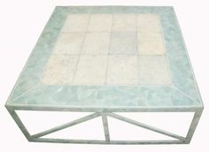 Maitland Smith Tessellated Marble and Shagreen Coffee Table | Modernism