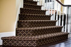 patterned stair carpet