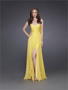 ef734c3ae2 Buy Chic Modern 2012 Collecti Prom Dress Sheath Column Sweetheart Yellow  Chiff Floor Length Beading Sequins On line