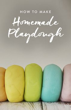 How to Make Homemade Playdough via @PureWow