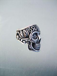 Skull Rings Flintlock silver, cool jewelry compant
