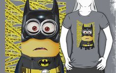 Funny Cute Despicable Me Minion BATMAN T-Shirt man, woman and kids
