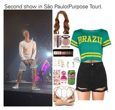 """Second show in São Paulo(Purpose Tour)."" by tatabranquinha ❤ liked on Polyvore featuring beauty, Forever 21, Topshop, Jennifer Lopez, Boohoo, Charlotte Tilbury, Latelita, Marc Jacobs, set and JustinBieber"