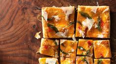 Butternut Squash Tart with Fried Sage Recipe | Bon Appetit