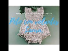 Peto con volantes Laura. - YouTube Craft Tutorials, Couture, Sewing, Knitting, Pattern, Kids, Crafts, Women, Fashion