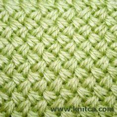 Zig-zag cable knitting