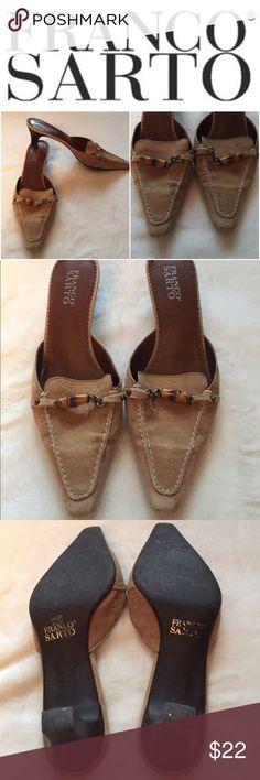 Adorable Franco Sarto heels! Cute and comfy tan Franco Sarto 2 inch heels.  Gently used Franco Sarto Shoes Heels