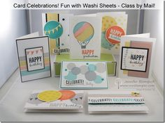Fun with Washi Sheets–a birthday card and NEW CLASS by MAIL!   Northwest Stamper