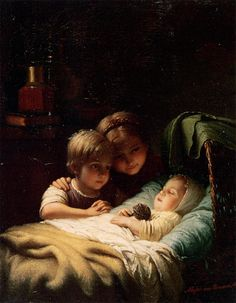 Sleeping Beauty by Johann Georg Meyer von Bremen (1813 – 1886)