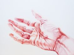 In this watercolor series, Martha Ossowska Persson paints detailed renderings of hands in various positions or intertwined, making strange shapes out of the ordinary
