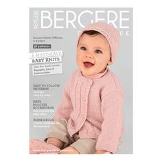 From newborns to tots up to two years, Bergere de France Magazine 182 has everything your little one could possibly desire to keep them snugly warm this winter. Featuring gorgeous hats, bootees, accessories and nursery essentials they'll never want to grow out of, this wonderful collection has got the lot!
