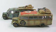 Bus 3, Afrika Korps, Panzer Iv, Used Trucks, Leaf Spring, Bunker, The Elf, Scale Models, Workshop