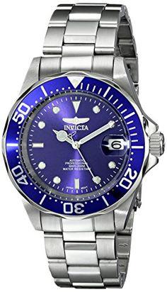 Invicta Men's 9094 Pro Diver Collection Stainless Steel Automatic Dress Watch with Link Bracelet *** This is an Amazon Associate's Pin. Detailed information can be found on Amazon website by clicking the VISIT button