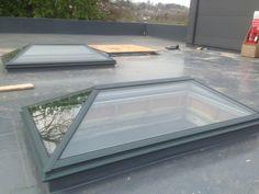 2x large glass rooflights at Devon Studio.