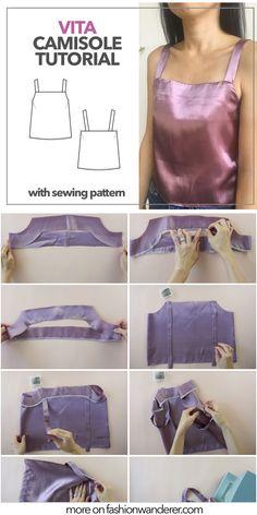 Sewing Shorts, Sewing Clothes, Diy Clothes, Blouse Pattern Free, Top Pattern, Sewing Patterns Free, Free Sewing, Diy Wardrobe, Blouse Neck Designs