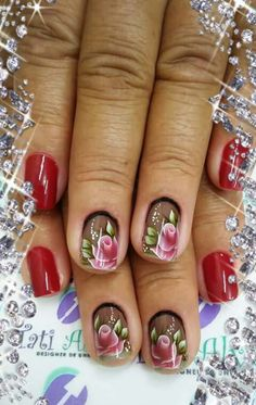Unha diferente de Tati Alves. Different nail by Tati Alves. Uña diferente por Tati Alves. Unghie different di Tati Alves. Colorful Nail Designs, Beautiful Nail Designs, Nail Polish Designs, Nail Art Designs, Gorgeous Nails, Fabulous Nails, New Nail Art Design, Daisy Nails, Girls Nails