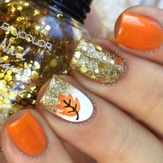 51 Fall Nail Colors Designs to Try This Year Herbst Nagel Farben Design, Herbst Nägel Farben Design This image has. Fancy Nails, Cute Nails, Pretty Nails, Fall Nail Art Designs, Cute Nail Designs, Toenail Designs Fall, Fall Designs, Fingernail Designs, Pedicure Designs