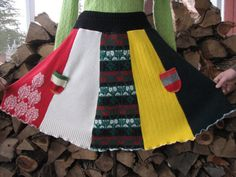 Repurposed Wool skirt  Size M / L Wool skirt   by TieTandem