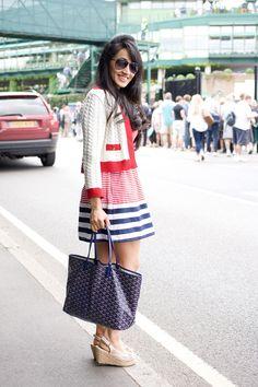 Wimbledon Street Style! Elicca De Souza, executive director
