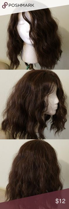 Wig Brown wavy lace front wig wirh adjustable straps comb in the back Other