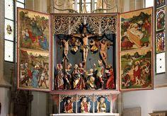 Hochaltar wurde in Deutschland, Creglingen aufgenommen und hat folgende Stichwörter: Hohenloher Land,  Herrgottskirche Creglingen.