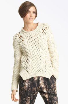 Free shipping and returns on Yigal Azrouël Duo Knit Sweater at Nordstrom.com. Chunky knitting richly textures a warm merino-wool pullover designed with an intriguing, hip-defining hem.