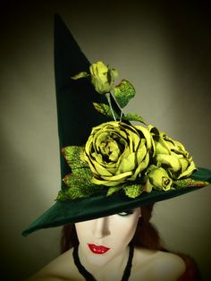 "Couture Velvet Witch Hat ""Wicked"" 23"" One of a Kind"