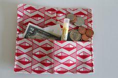 Small handmade fabric coin clutch pouches