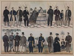 Image result for late 1850s men's clothing