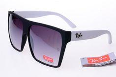 219 Ray-Ban Square 2128 Black White Frame Gray Lens RB1058.