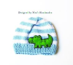 Boys Knit Alligator beanie