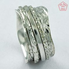 Charmming Design 925 Sterling Silver Spinner Ring R4731, Sz. 6.5 US #SilvexImagesIndiaPvtLtd #Spinner #AllOccasions