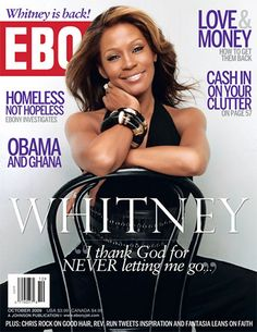 Whitney of the cover of Ebony