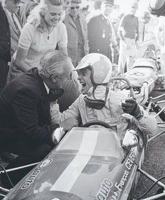 f1 The photo saysIncomparable joy of a very young Francois Cevert to celebrate the victory with his parents.