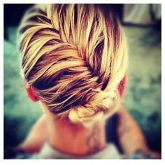 Love this twist of a bun