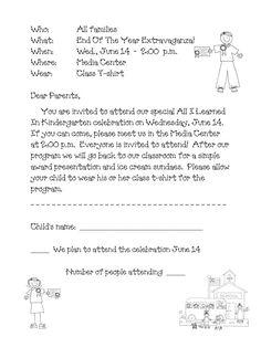 Kindergarten Graduation Program Template | Pinterest | Kindergarten ...