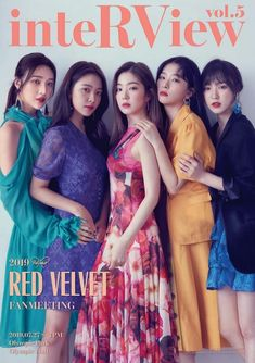 Red Velvet is showing off some gorgeous looks for their upcoming fan meeting 'inteRView' at Olympic Hall on July girls are wearing … Red Velvet Joy, Red Velvet Seulgi, Red Velvet Irene, Black Velvet, Kpop Girl Groups, Korean Girl Groups, Kpop Girls, K Pop, Red Velvet Photoshoot