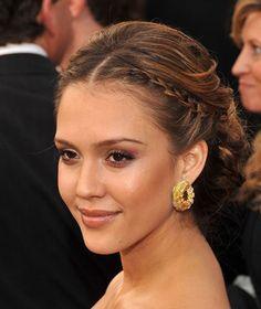 Jessica Alba braids updo