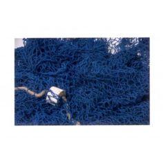 Red de pesca decoración en azul marino
